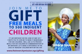 JOIN ME TO SPONSOR FREE MEALS FOR 500 CHILDREN