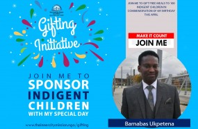 JOIN ME TO SPONSOR MEALS FOR 100 CHILDREN