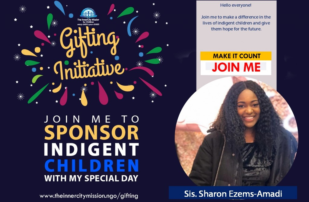 Join me to make a difference in the lives of indigent children and give them hope for the future.