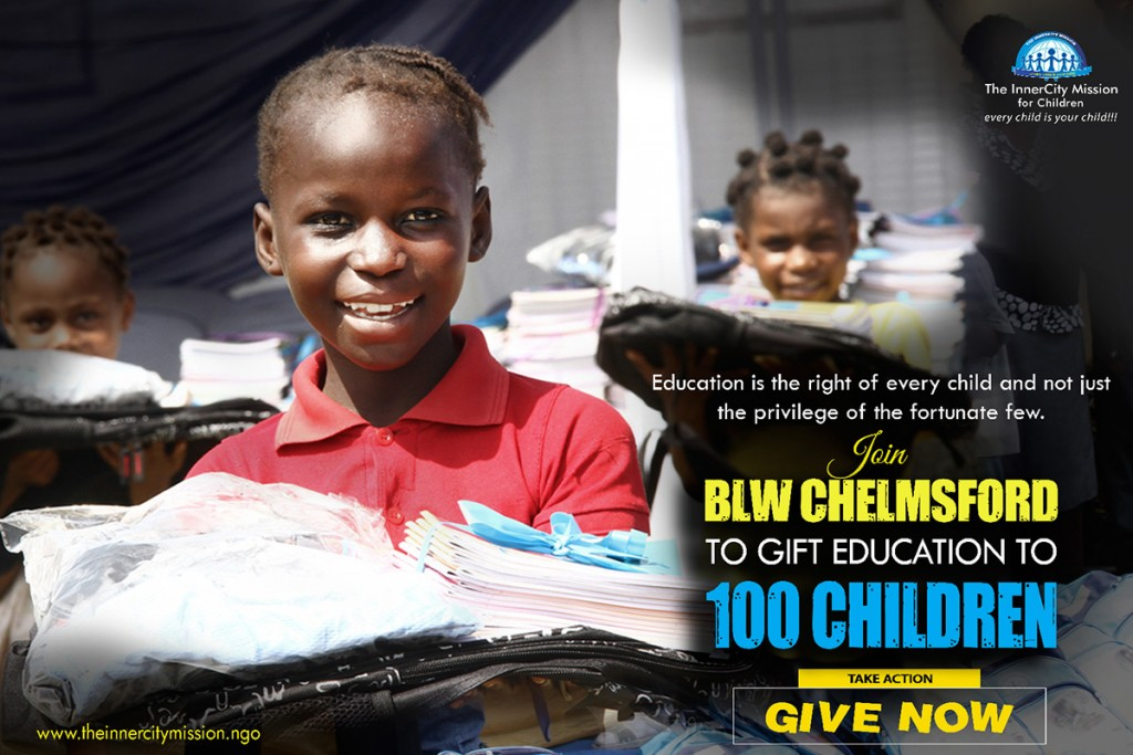 GIFTING EDUCATION TO 100 CHILDREN
