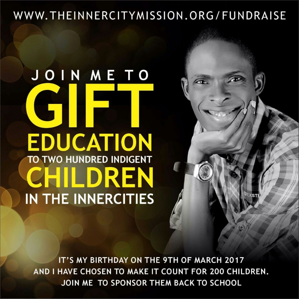 JOIN ME TO SPONSOR 200 INDIGENT CHILDREN BACK TO SCHOOL