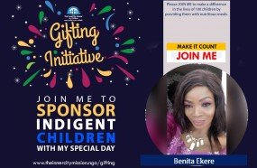 JOIN ME TO FEED 100 INDIGENT CHILDREN