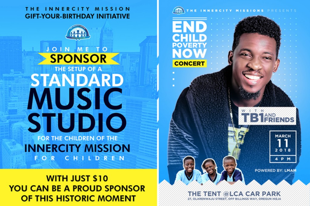 Join Me to setup a Standard Music Studio for the children of the Innercity Mission for Children