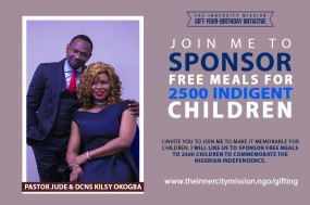JOIN US TO GIFT FREE MEALS TO 2500 INDIGENT CHILDREN