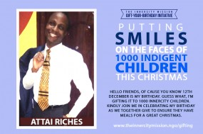 PUTTING SMILES ON THE FACES OF INDIGENT CHILDREN  THIS CHRISTMAS
