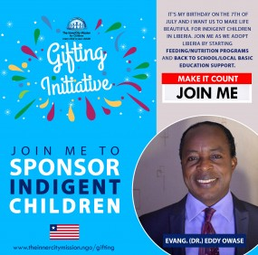 Join Me To Sponsor Indigent Children