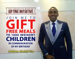 JOIN ME TO SPONSOR 1,000 FREE MEALS FOR CHILDREN IN THE INNERCITIES IN COMMEMORATION OF MY BIRTHDAY.