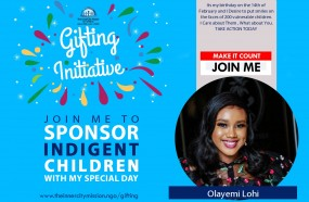 JOIN ME TO GIFT NUTRITIOUS MEAL TO 200 INDIGENT CHILDREN