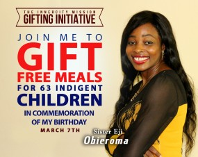 Join me to sponsor free meals for 63 indigent children
