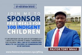 Join Me To Sponsor Free Meals For 100 Children