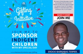 Join me to Gift free meals to 50 Indigent children.