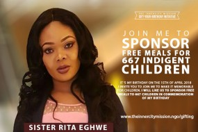 JOIN ME TO GIFT FREE MEALS TO 667 INDIGENT CHILDREN