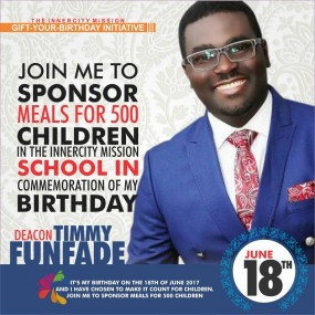 YES WE CAN - TOGETHER LETS SPONSOR FREE MEALS FOR 500 INDIGENT CHILDREN
