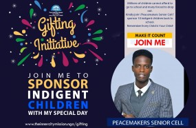 Join 'Peacemakers Senior Cell' Sponsor 10 Indigent Children Back To School