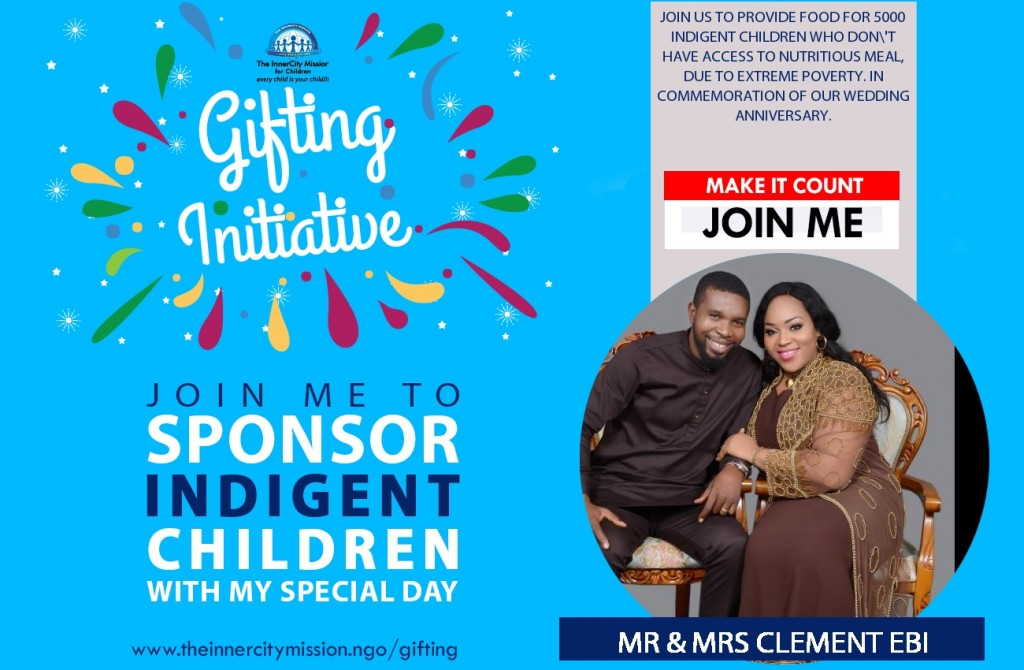 JOIN US TO FEED 5000 INDIGENT CHILDREN