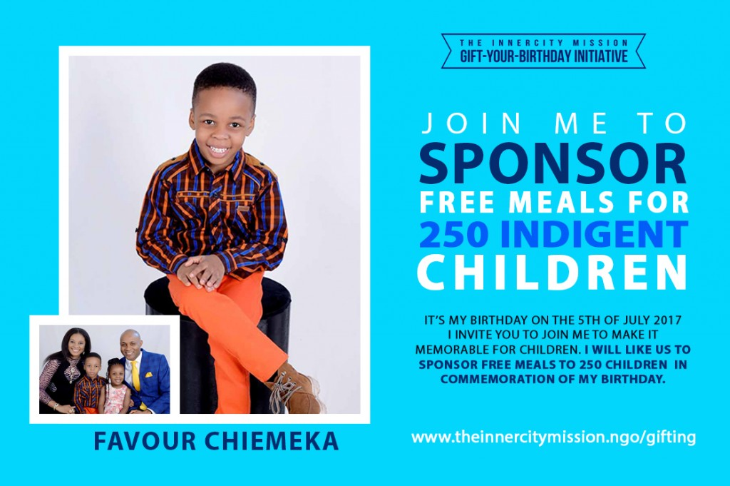 Join Me To Sponsor Free Meals For 250 Children