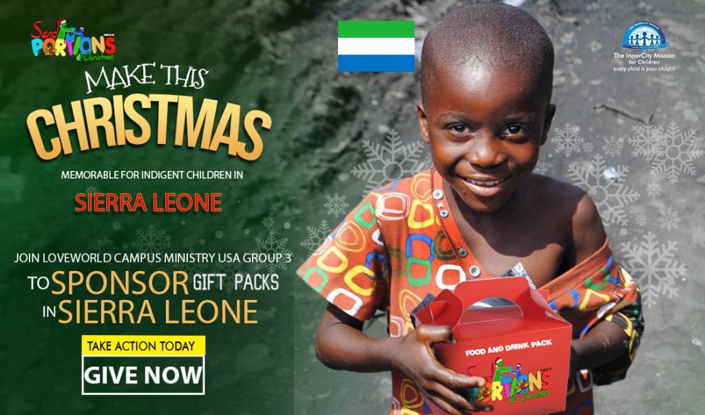 Send Portions to Indigent Families and Children in Sierra Leone with Campus Ministry USA Group 3