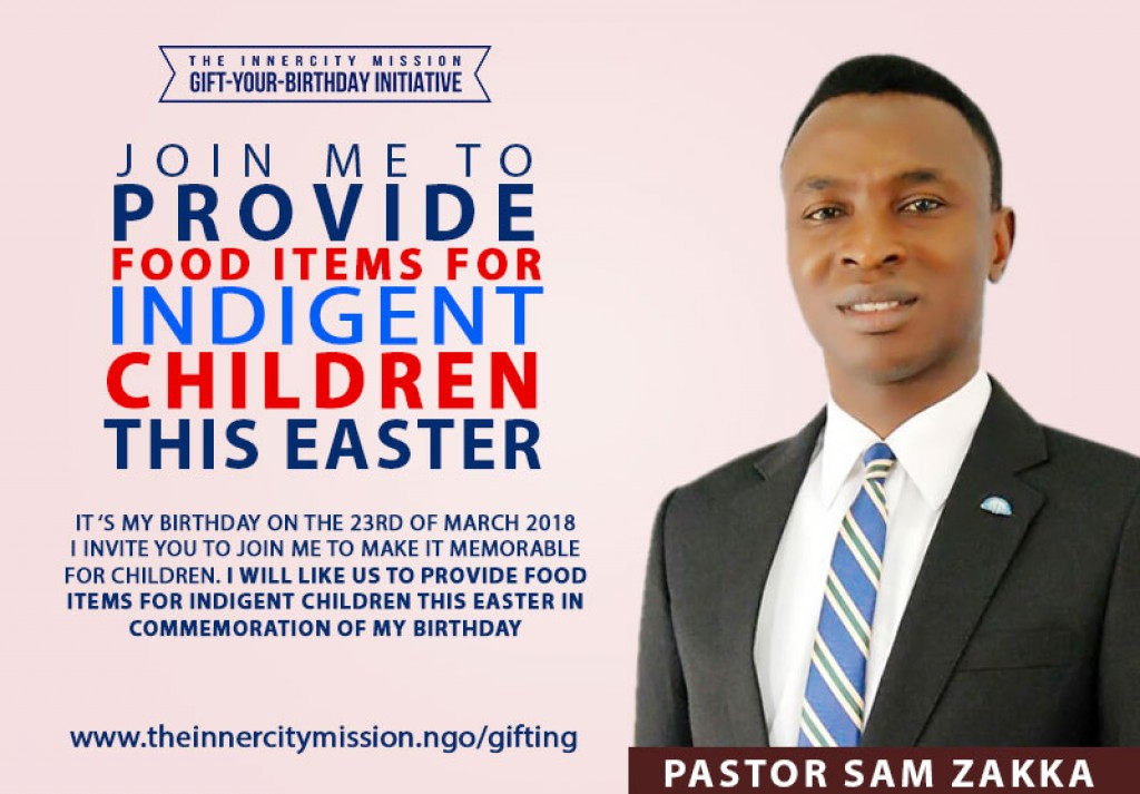 JOIN ME TO PROVIDE FOOD ITEMS FOR INDIGENT CHILDREN THIS EASTER
