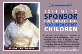 GIFTING 500 MEALS TO 500 INDIGENT CHILDREN