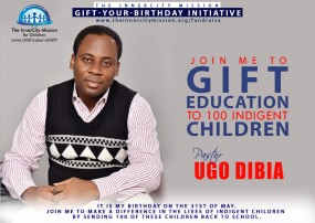 JOIN ME TO SEND 100 INDIGENT CHILDREN BACK TO SCHOOL