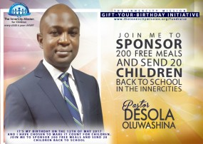 JOIN ME TO SPONSOR 200 MEALS AND SEND 20 INDIGENT CHILDREN BACK TO SCHOOL
