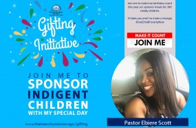 JOIN ME TO MAKE MY BIRTHDAY COUNT FOR 300 INDIGENT CHILDREN
