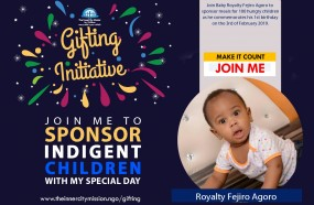 Join me to send meals to 100 indigent children