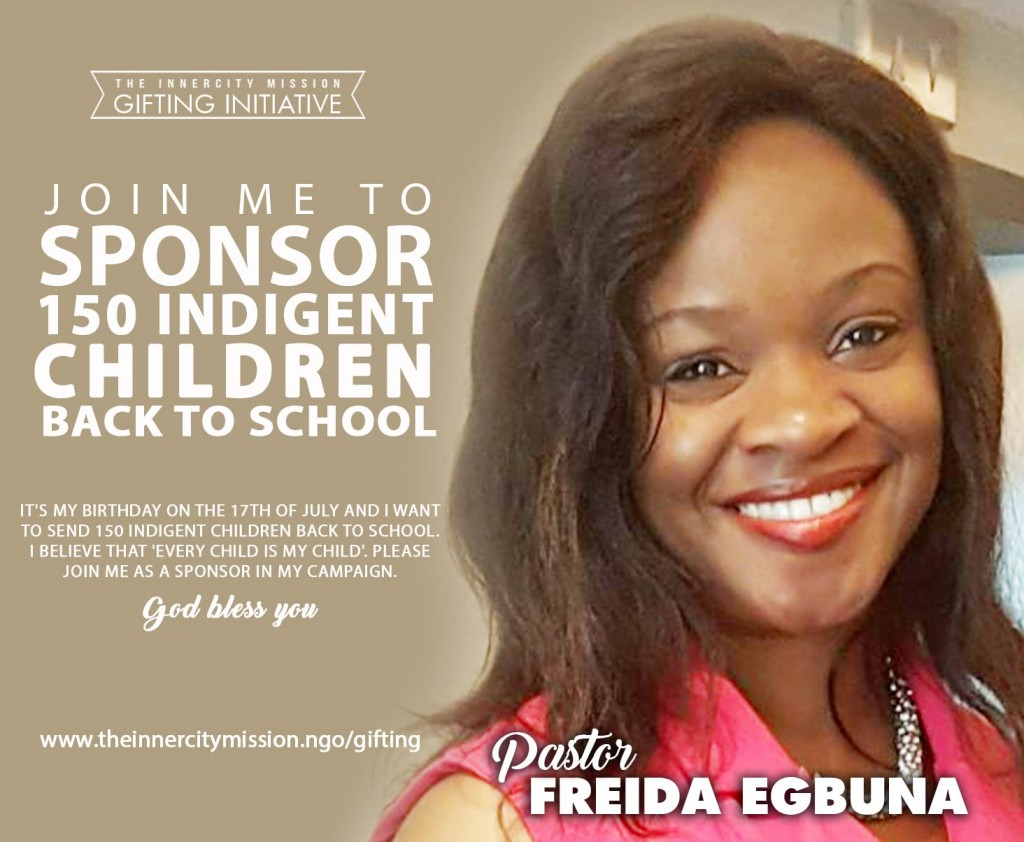 Join Me To Sponsor 150 Indigent Children Back To School
