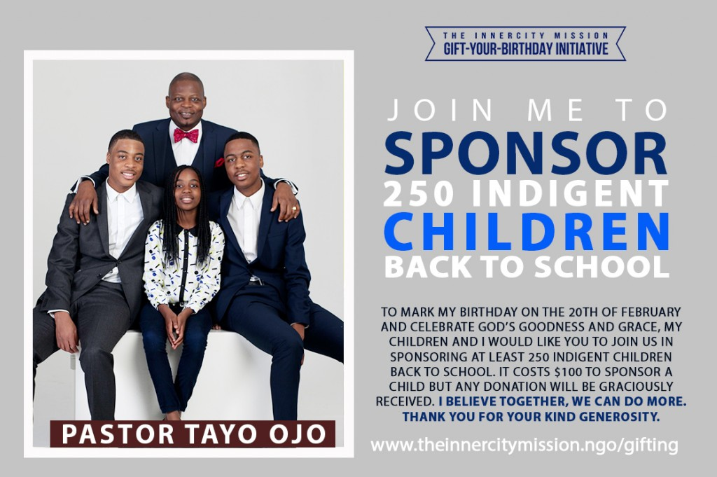 Join Me To Sponsor 250 Indigent Children Back To School