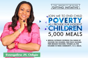 Join me to End Child Poverty as l provide meals for 5,000 indigent children