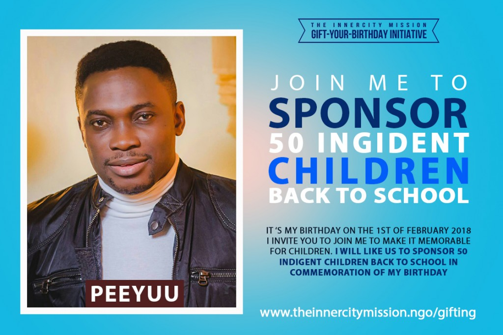 Join Me To Send 50 Indigent Children Back to School