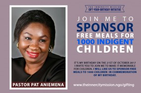 Join Me To Sponsor Free Meals For 1,000 Indigent Children