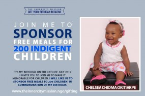JOIN ME TO GIFT FREE MEALS TO 200 INDIGENT CHILDREN