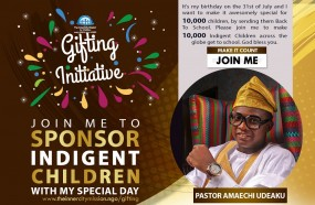 JOIN ME TO SEND 10,000 INDIGENT CHILDREN BACK TO SCHOOL