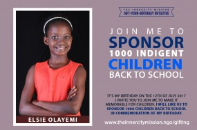 Join Me To Sponsor 1,000 Indigent Children Back To School