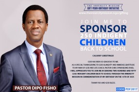 SPONSOR 250 CHILDREN BACK TO SCHOOL WITH MY BIRTHDAY
