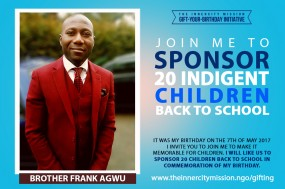 Join Me To Sponsor 20 Indigent Children Back To School