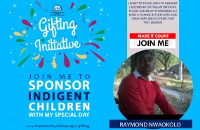 JOIN ME TOUCH LIVES OF INDIGENT CHILDREN