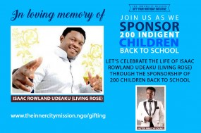 Let's Celebrate The Life Of Isaac Rowland Udeaku [Living Rose] By Sending 200 Children Back To School