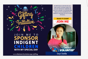 JOIN ME TO SPONSOR FREE MEALS FOR 200 INDIGENT CHILDREN