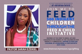 Join Me To Feed 500 Indigent Children Through The Feed A Child Initiative
