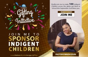 JOIN ME TO SEND 100 CHILDREN BACK TO SCHOOL